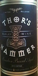 Thor's Hammer Barley Wine Bourbon Barrel Aged