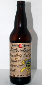 Malevolence Chocolate Caliente Russian Imperial Stout