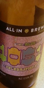 All In Brewing RLGK 10517 Celebration Stout