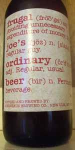 Frugal Joe's Ordinary Beer