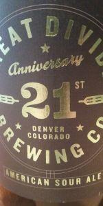 21st Anniversary Sour Ale