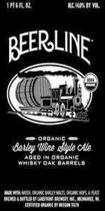 Organic Beerline Barleywine Aged In Organic Rye Whiskey Barrels
