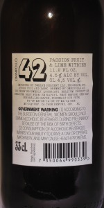 Magic #42 - Passion Fruit & Lime Witbier