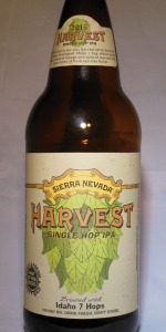 Sierra Nevada Harvest Single Hop Idaho 7
