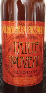 Tarte Nouveau Session Sour Ale - Blood Orange Puree