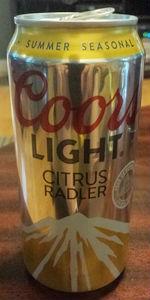 Coors Light Citrus Radler