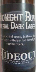 Midnight Run Imperial Dark Lager