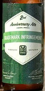 Trademark Infringement (2nd Anniversary Ale)