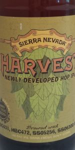 Harvest Newly Developed Hop IPA