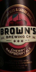 Brown's Cherry Raspberry Ale