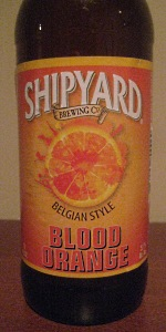 Blood Orange Belgian Style Ale