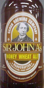 Gahan House Sir John A's Honey Wheat Ale