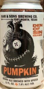 Den Of Sin Pumpkin Brown Ale