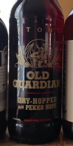 Old Guardian Barley Wine Style Ale (2016) - Dry-Hopped With Pekko