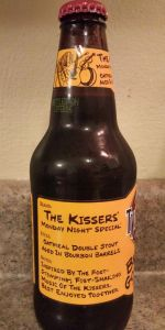 The Kissers' Monday Night Special Oatmeal Double Stout (Bourbon Barrel Aged