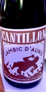 Cantillon Lambic D'Aunis