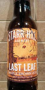 Last Leaf Maple Brown Ale