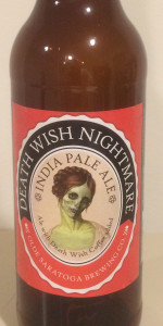 Olde Saratoga Death Wish Nightmare IPA