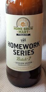 Homework Series Batch No. 7 - Session Saison
