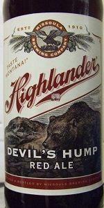 Highlander Devil's Hump Red Ale