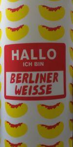 Hallo Ich Bin Berliner Weisse - Peach