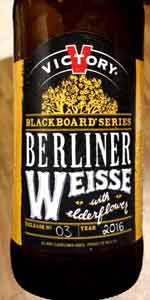 Blackboard Series #3 - Berliner Weisse with Elderflower