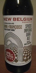 Lips of Faith: Anne-Françoise Spiced Imperial Dark Ale