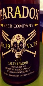 Salty Lemons (Skully Barrel No. 39)