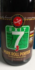 Exit 7 20th Anniversary Pork Roll Porter