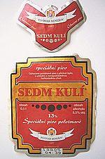 Sedm Kulí (13% Speciální Pivo Polotmavé )