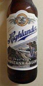 Highlander Lost Peak Montana Lager