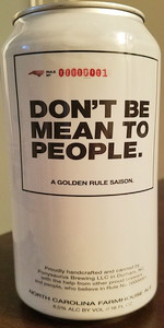 Ponysaurus / Mystery - Don't Be Mean To People (A Golden Rule Saison)
