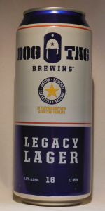 Dog Tag Legacy Lager