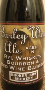 Blended Barley Wine Ale (Aged In Red Wine, Bourbon & Rye Whiskey Barrels)