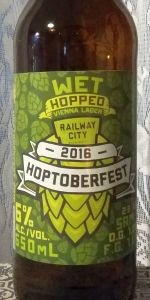 Railway City Hoptoberfest 2016 - Wet Hopped Vienna Lager