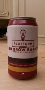 High Brow Barista Coffee Rye Pale Ale