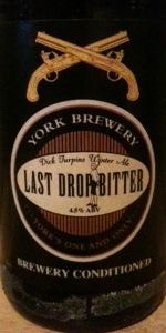 Last Drop Bitter
