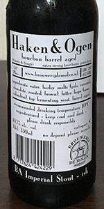 Haken Ogen Bourbon Barrel Aged Brouwerij De Molen Beeradvocate