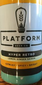 Hyper Retro Lemon Ginger Saison