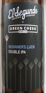 Beginner's Luck (Collaboration With Green Cheek Beer Company)