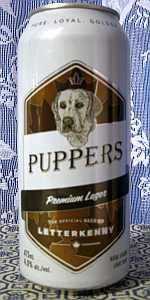 Letterkenny Puppers Premium Lager Beer