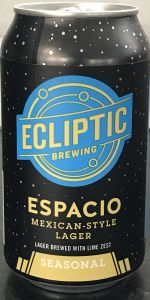 Espacio (Mexican-Style Lager with Lime Zest)