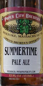 Paper City Summertime Pale Ale