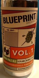 Volume 1 ipa blueprint brewing company beeradvocate beer info malvernweather Gallery