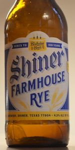 Shiner Birthday Beer 109 - Farmhouse Rye