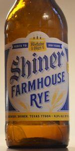Shiner Birthday Beer 109 - Farmhouse Rye