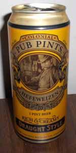 Colonial Pub Pints Hefeweizen