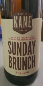 sunday brunch bourbon barrel aged kane brewing company