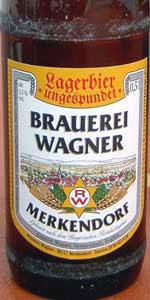 Wagner Ungespundetes Lagerbier