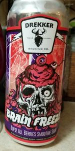 Brain Freeze Oops All Berries Drekker Brewing Company Beeradvocate On occasion, manufacturers may improve or change their product formulas and update their labels. brain freeze oops all berries